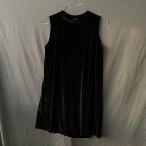 Velvety ribbed minidress